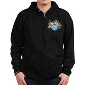 They Were Here First Zip Hoodie (dark)