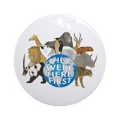 They Were Here First Ornament (Round)