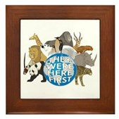 They Were Here First Framed Tile