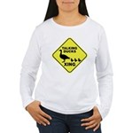 Talking Ducks Crossing Women's Long Sleeve T-Shirt