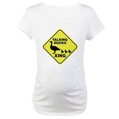 Talking Ducks Crossing Maternity T-Shirt