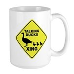 Talking Ducks Crossing Large Mug