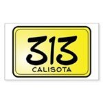 313 License Plate Sticker (Rectangle)