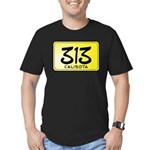 313 License Plate Men's Fitted T-Shirt (dark)