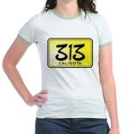 313 License Plate Jr. Ringer T-Shirt