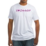 I Love W.i.t.c.h. Fitted T-Shirt