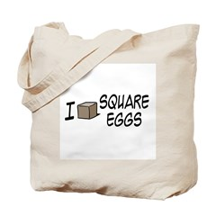 I Love Square Eggs Tote Bag