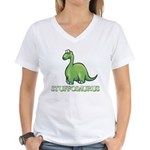 Stuffosaurus Logo Women's V-Neck T-Shirt