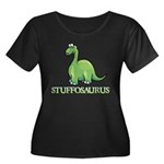 Stuffosaurus Logo Women's Plus Size Scoop Neck Dark T-Shirt