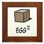Square Egg Framed Tile