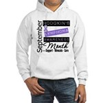 Hodgkin's Lymphoma Month v3 Hooded Sweatshirt