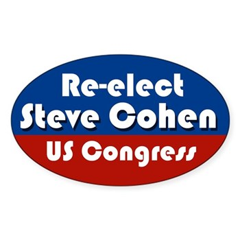 Re-Elect Steve Cohen Oval Patriotic Bumper Sticker for the Tennessee elections