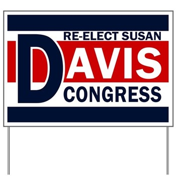 Re-Elect Susan Davis for Congress Lawn Sign