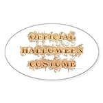 Official Halloween Costume Oval Sticker (10 pk)