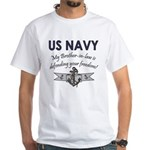 Navy Brother-in-law defending White T-Shirt