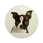 Kiss Boston Terrier Ornament