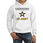 Army Boyfriend Serving Hooded Sweatshirt