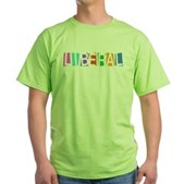Colorful Retro Liberal Green T-Shirt