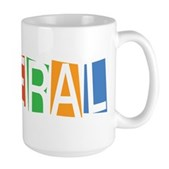 Colorful Retro Liberal Large Mug