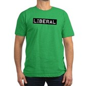 Liberal Label Men's Fitted T-Shirt (dark)