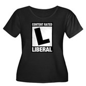 Content Rated Liberal Women's Long Sleeve T-Shirt