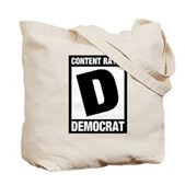 Content Rated Democrat Tote Bag