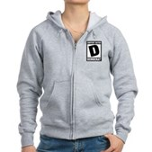 Content Rated Democrat Women's Zip Hoodie