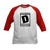 Content Rated Democrat Kids Baseball Jersey
