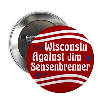 Wisconsin Against Jim Sensenbrenner congressional campaign button