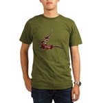 Vampire Bat 1 Organic Men's T-Shirt (dark)