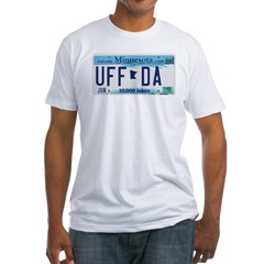 Uffda License Plate Shop Fitted T-Shirt