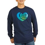 Haiti Heart Long Sleeve Dark T-Shirt