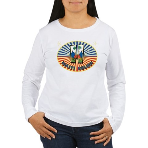 Haitian Starburst Women's Long Sleeve T-Shirt