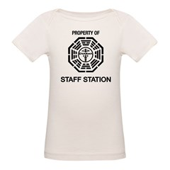 Dharma Initiative Island Staff Station Organic Baby T-Shirt