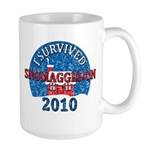 I Survived Snomaggedon Blizzard of 2010 Large Mug