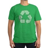 Path to Recycling Men's Fitted T-Shirt (dark)