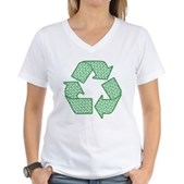 Path to Recycling Women's V-Neck T-Shirt
