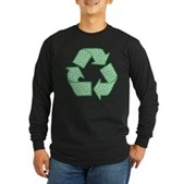 Path to Recycling Long Sleeve Dark T-Shirt