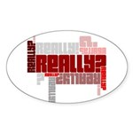 Really? Sticker (Oval 50 pk)