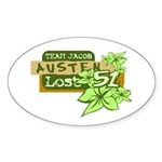 Team Jacob - Austen 51 Sticker (Oval)