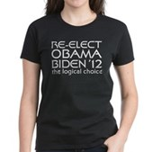 Logical Obama 2012 Women's Dark T-Shirt