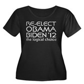 Logical Obama 2012 Women's Plus Size Scoop Neck Da