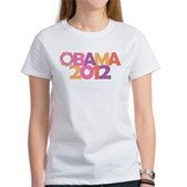 Obama Flowers 2012 Women's T-Shirt