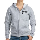 Obama 2012 Swish Women's Zip Hoodie