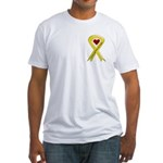 Yellow Ribbon Love Miss Sailor Fitted T-Shirt