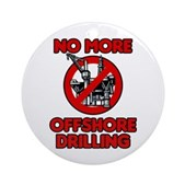 No More Offshore Drilling Ornament (Round)