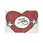 Bad Attitude Heart Rectangle Magnet (10 pack)