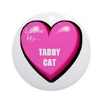 Tabby Cat Lover Ornament