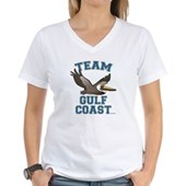 Team Gulf Coast Pelican Women's V-Neck T-Shirt