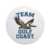 Team Gulf Coast Pelican Ornament (Round)